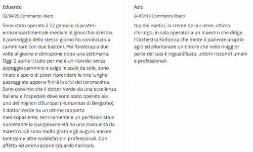 recensione dottor Francesco Verde